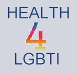 Tekst 'Health4LGBTI'