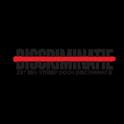 Logo 'Zet een streep door discriminatie'